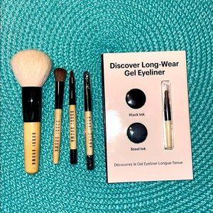 Bobbi Brown mini brush set + gel liner